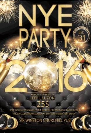 Buy Sir Winston Churchill Pub New Years Eve 2021 tickets - NO SERVICE FEES! Montreal, QC