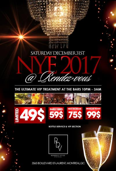 Buy Rendezvous New Years Eve 2019 Tickets No Service