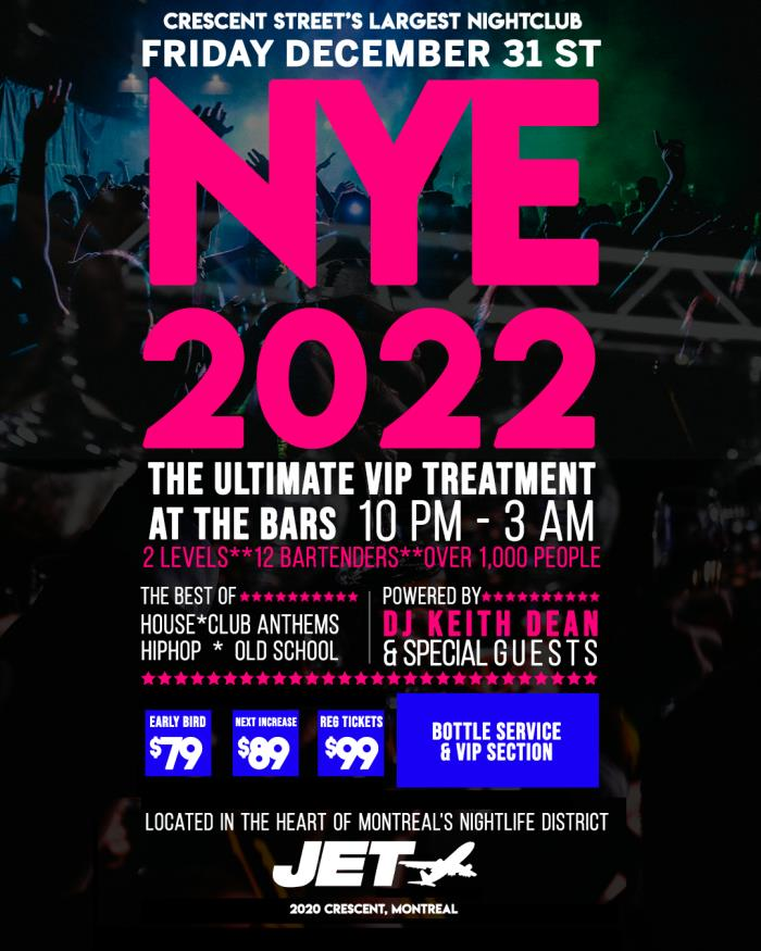 Buy Jet New Years Eve 2021 tickets - NO SERVICE FEES ...